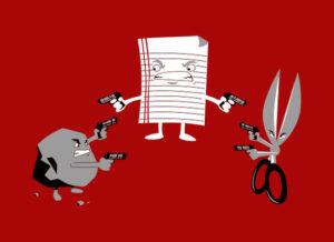 rock paper scissors mexican standoff