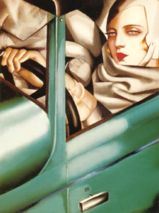 Lempicka - self-portrait in the green bugatti